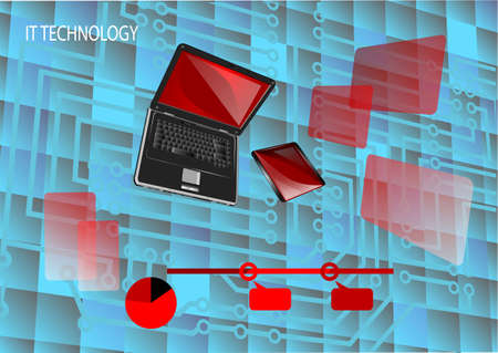 tecnology: it tecnology. abstract backgroung for presentation and infographic