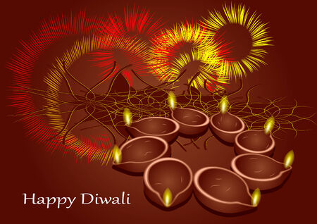diwali. abstract festive background with multicolor light