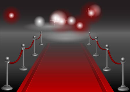 prestige: red carpet. festive background with fence and light