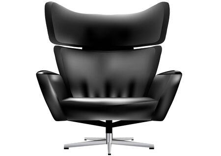 leather chair: sedia da ufficio Vettoriali