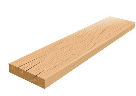 vérifier bois. planche isolé sur un fond blanc Vecteurs