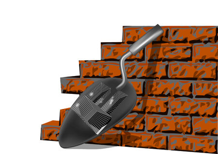building brick wall isilated on a white backgrouns