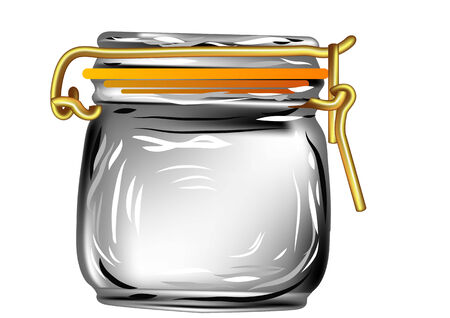 canning: canning jar isolated on a white background Illustration