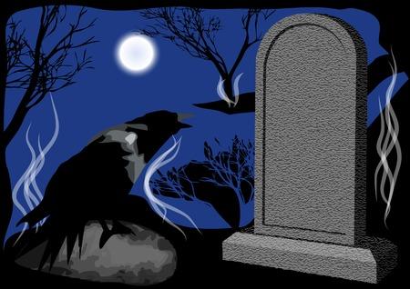 churchyard: cemetary night