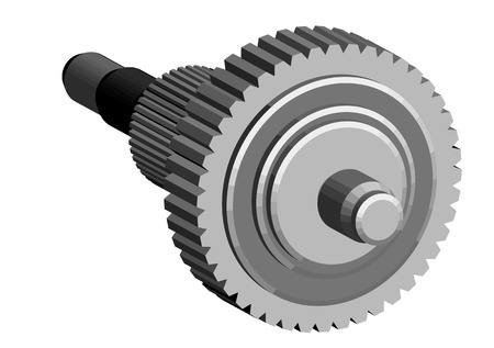centralized: central gear isolated on a white background Illustration