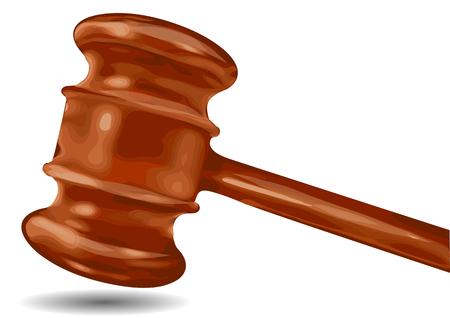 martillo juez: juez martillo aislado en un fondo blanco