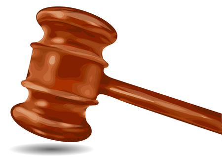 juge marteau: juge marteau isol� sur un fond blanc