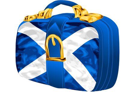 scottish flag: bag with scottish flag design on white background