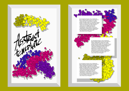 absract: abstract template3. absract background for business document Illustration