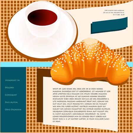 web site design template: coffee site templates. web site design template, coffee house theme Illustration