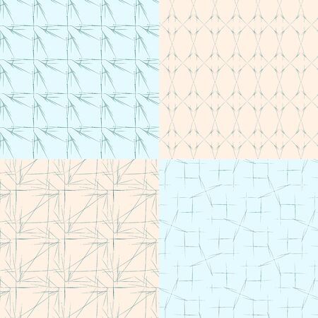 geometric seamless backgrounds 2 on blue and bege