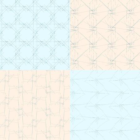 geometric seamless backgrounds3 on blue and bege Ilustração