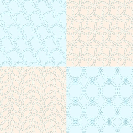 geometric seamless backgrounds4 on blue and bege