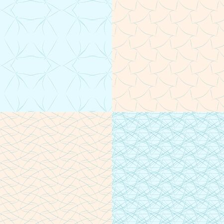 geometric seamless backgrounds5 on blue and bege