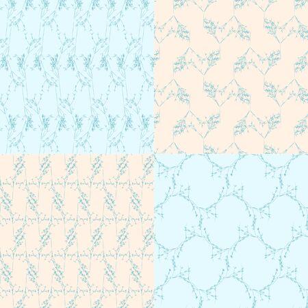geometric seamless backgrounds6 on blue and bege Ilustração