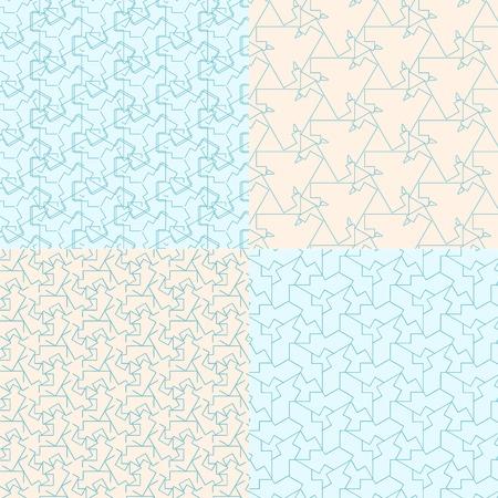 geometric seamless backgrounds7 on blue and bege Ilustração
