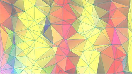 triangular banner: abstract triangular geometric background. colorful modern banner Illustration