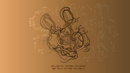 slogan: musical background with slogan