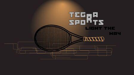 slogan: raqueta de tenis y el lema. resumen de antecedentes deporte