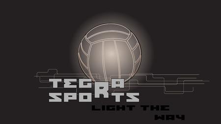 slogan: ball and slogan. volleyball abstract dark background