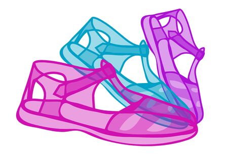jelly: jelly shoes Illustration