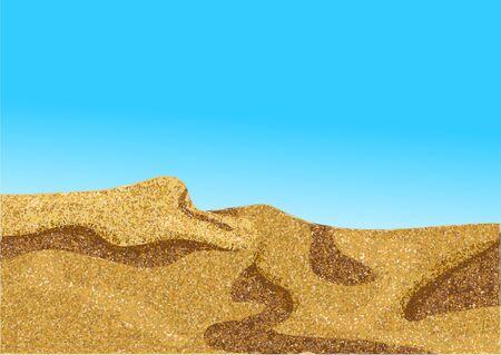 dune: africa desert or coast dune with blue sky