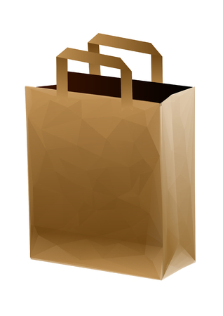 isolatd: brown shopping bag isolatd on a white background