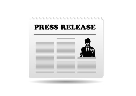 news event: press release. abstract icon isolated on white background