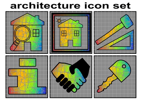homes for sale: architecture icon. building and architecture icon set