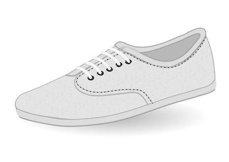 activity exercising: vans white. shoe on a white background