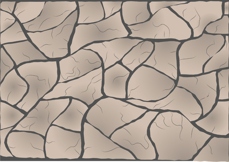 erosion: cracked. abstract vector background with cracked land Illustration
