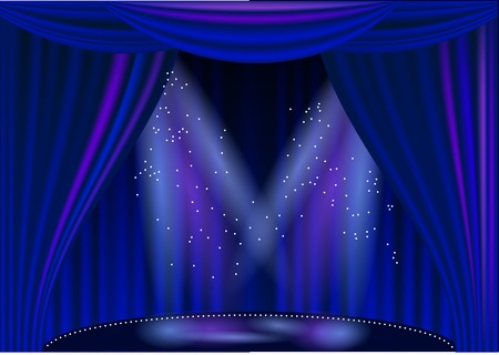 empty stage theater with light. 10 EPS Illustration