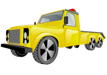 evacuate: tow truck car isolated on a white background