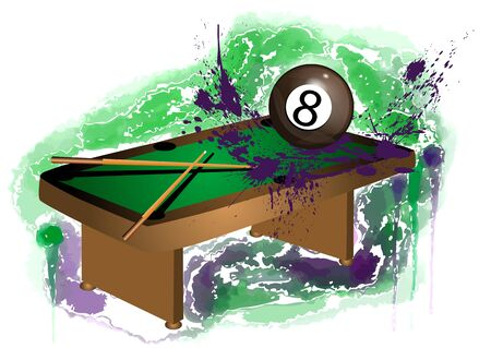 number 8: number 8. billiard ball on abstract grunge background