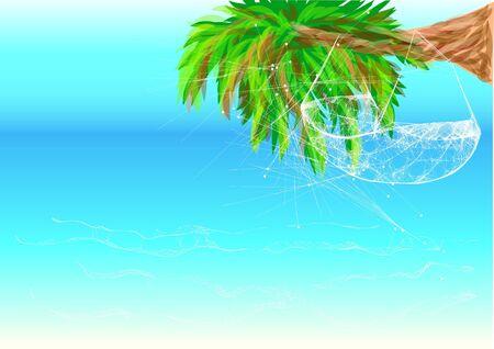 hammock: hawaii beach and hammock on a palm tree