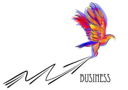 abstract business concept of eagle and arrow