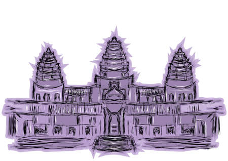 wat: angkor wat isolated on a white background