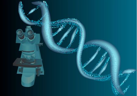 clones: scientific background of microscope and dna