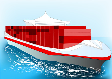 container ship illustrations