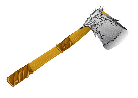 lumber decorative axe isolated on a white background