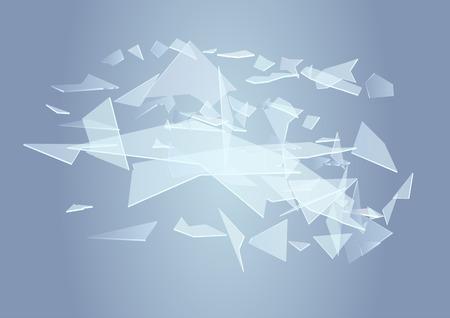 ガラスの破片。ガラスの pice と抽象的な背景