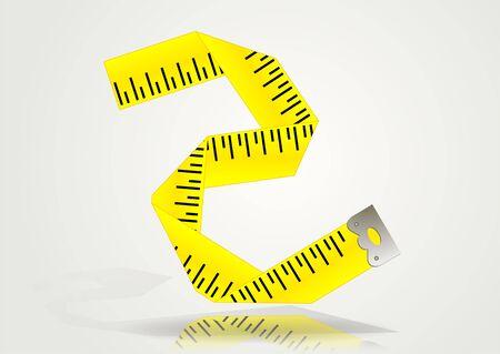 テープ メジャー アイコン。明るい背景に centimetr アイコン  イラスト・ベクター素材