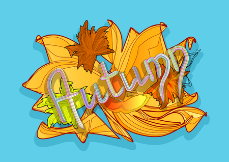 background herfst: autumn background with abstract leaves. 10 EPS