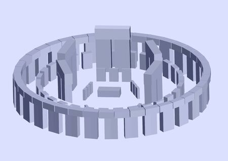 stonehenge: stonehenge. abstract 3D scheme of historical landmark