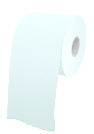 cleanliness: toilet paper roll isolated on a whote background