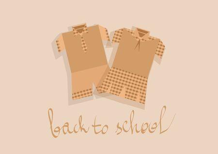 school uniform: school uniform. abstract siltouette of elementary school uniform Illustration
