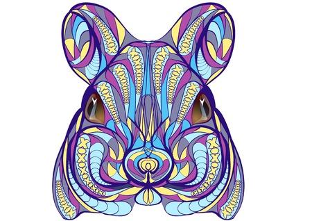 myszy: Mysz etnicznych na białym tle