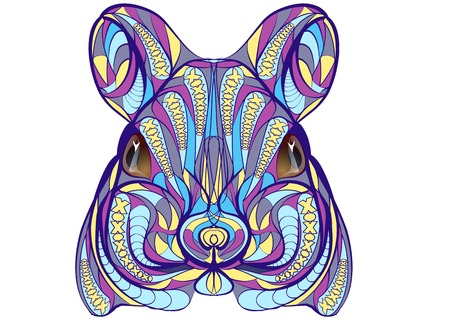 raton: ratón étnico aislado en un fondo blanco