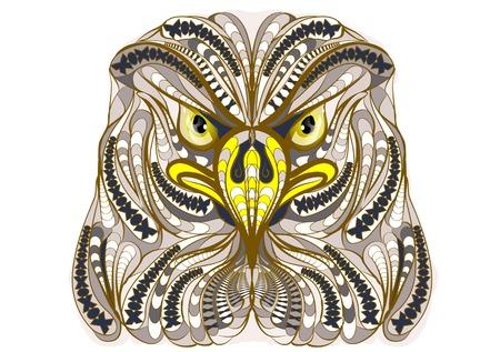 aigle: aigle ethnique isolé sur un fond blanc Illustration