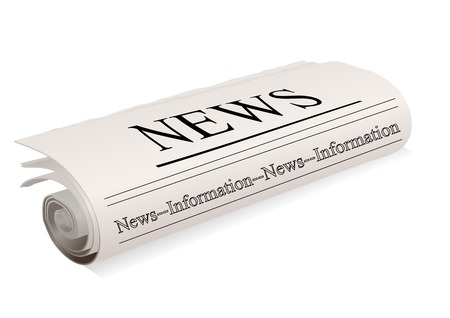 newspaper on a white background.